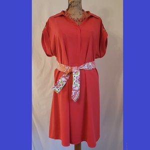 Lane Bryant Orange Plus Sized Dress- Size: 18/20